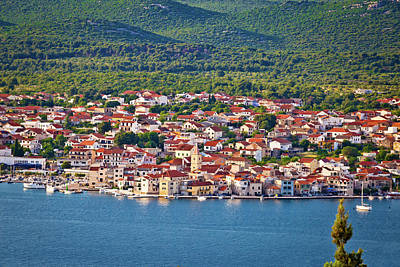 Photograph - Town Of Pirovac Aerial View by Brch Photography