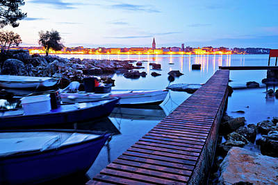 Photograph - Town Of Porec Coast Dawn View by Brch Photography