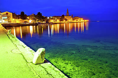 Photograph - Town Of Porec Coast Evening View by Brch Photography