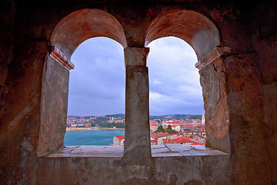 Photograph - Town Of Porec View From Church Tower Window by Brch Photography