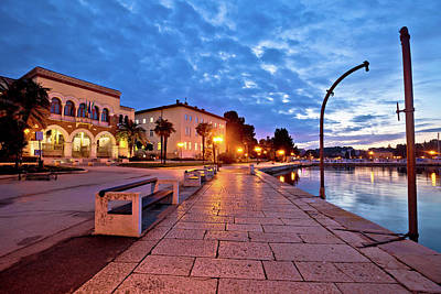 Photograph - Town Of Porec Waterfront Colorful Dawn View by Brch Photography