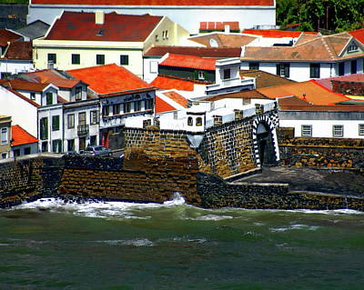 Photograph - Town Of Porto Pim by Anthony Dezenzio