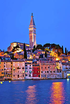 Photograph - Town Of Rovinj Evening Vertical View by Brch Photography