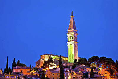 Photograph - Town Of Rovinj Landmark Evening View by Brch Photography