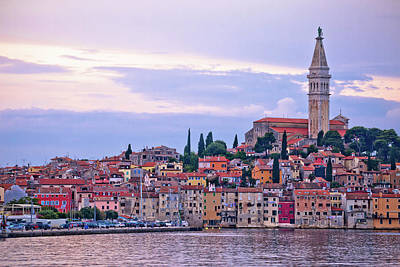 Photograph - Town Of Rovinj Sunset View by Brch Photography