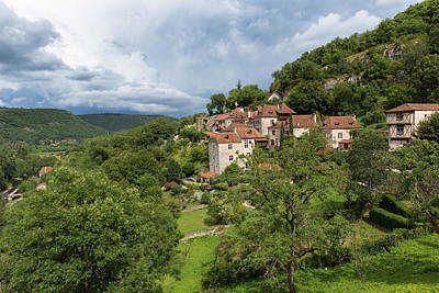 Photograph - Town Of Saint Circ Lapopie In France by Semmick Photo