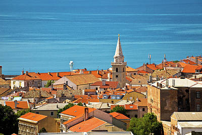 Photograph - Town Of Senj Rooftops And Waterfront by Brch Photography