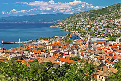 Photograph - Town Of Senj Seafront Aerial View by Brch Photography