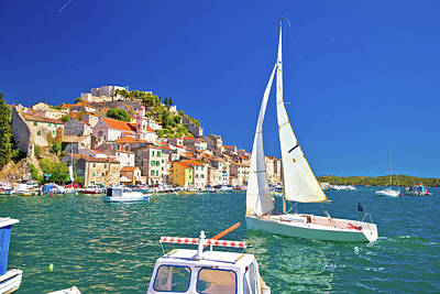 Photograph - Town Of Sibenik Waterfront Sailing by Brch Photography