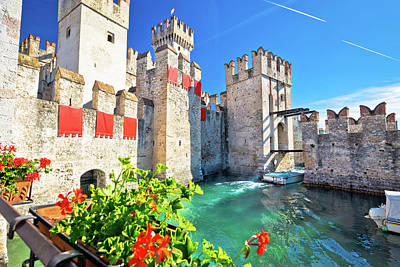 Photograph - Town Of Sirmione Entrance Walls View by Brch Photography
