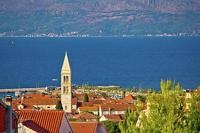 Photograph - Town Of Supetar And Brac Island Channel View by Brch Photography