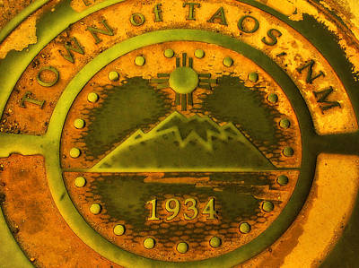 Bath Time Rights Managed Images - Town of Taos New Mexico 1934   Royalty-Free Image by Donna Haggerty