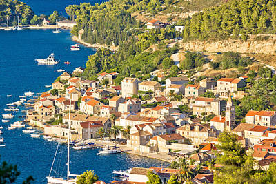 Photograph - Town Of Vis Aerial View by Brch Photography