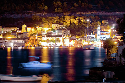 Photograph - Town Of Vis Island Evening View by Brch Photography