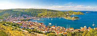 Photograph - Town Of Vis Panorama From Hill by Brch Photography
