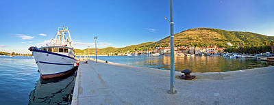 Photograph - Town Of Vis Panoramic Harbor View by Brch Photography