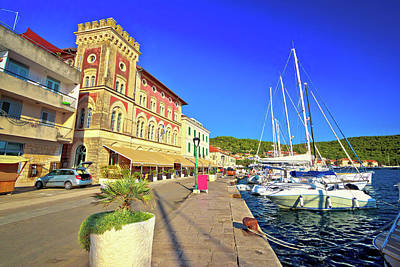 Photograph - Town Of Vis Waterfrnt Old Mediterranean Architecture by Brch Photography