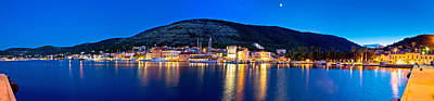 Photograph - Town Of Vis Waterfront Evening Panorama by Brch Photography