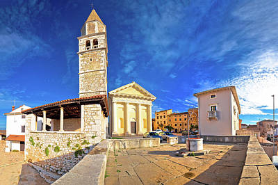 Photograph - Town Of Visnjan Old Stone Square And Church View by Brch Photography