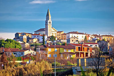 Photograph - Town Of Visnjan On Green Istrian Hill View by Brch Photography