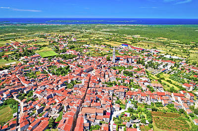 Photograph - Town Of Vodnjan And Brijuni Archipelago Aerial View by Brch Photography
