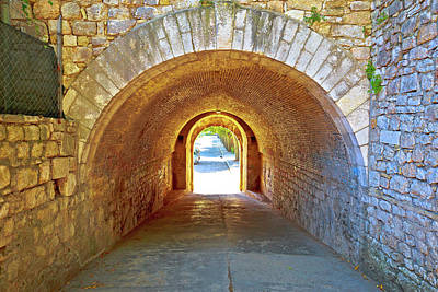 Photograph - Town Of Zadar Historic Stone Street Passage View by Brch Photography