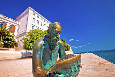 Photograph - Town Of Zadar Waterfront Detail View by Brch Photography