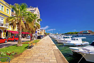 Photograph - Town Of Zadar Waterfront View by Brch Photography