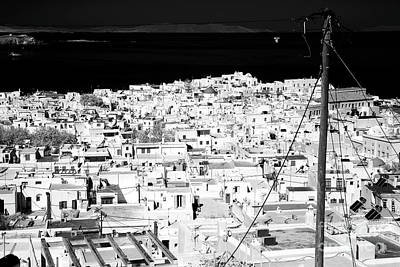 Telephone Poles Photograph - Town On The Aegean Sea Infrared by John Rizzuto