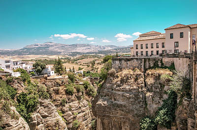 Photograph - Town On The Cliffs. Ronda. Spain by Jenny Rainbow