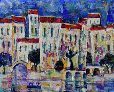 Painting - Town On The Rever by Maxim Komissarchik