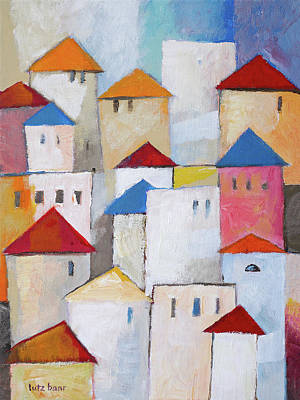 Painting - Town Painting by Lutz Baar