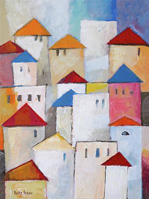 Painting - Town Painting by Lutz Baar
