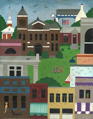 Painting - Town Square by Carol Neal