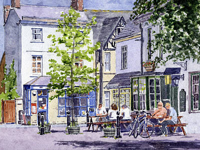 Renovation Painting - Town Square Eynsham by Mike Lester