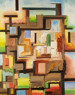 Painting - Townhouse by Dave Martsolf