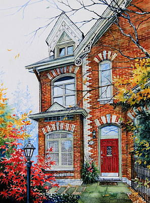 Townhouse Portrait Art Print