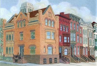 Townhouses Art Print by David Hinchen