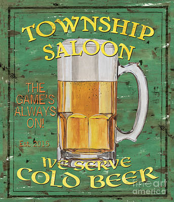 Beer Painting - Township Saloon by Debbie DeWitt