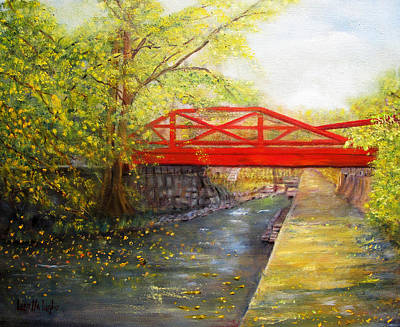Painting - Towpath In New Hope by Loretta Luglio