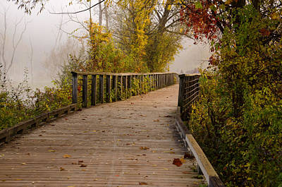 Photograph - Towpath Trail Boardwalk by Ann Bridges