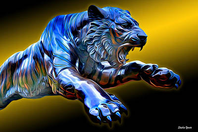 Digital Art - Towson Tiger by Stephen Younts