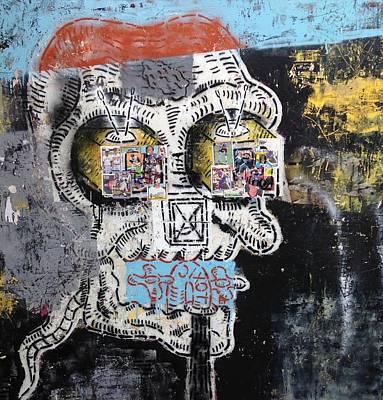 Grunge Skull Painting - Toxic by Matt Cox