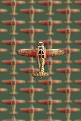 Art Print featuring the photograph Toy Airplane Scrapper Pattern by YoPedro