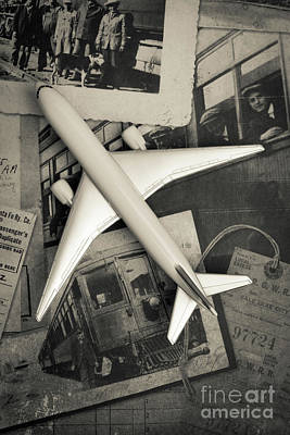 Wander Photograph - Toy Airplane Vintage Travel by Edward Fielding