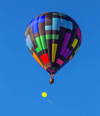 Toy Balloon And Hot Air Balloon Art Print