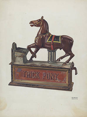 Toy Bank - Trick Pony Art Print by Florian Rokita