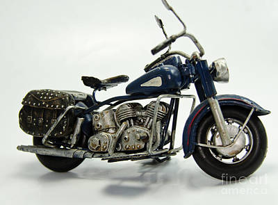 Photograph - Toy Blue Motorcycle by Wilma Birdwell