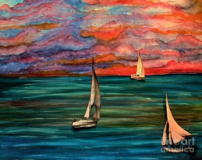 Toy Boat Mixed Media - Toy Boats X's 3 by Barbara Donovan