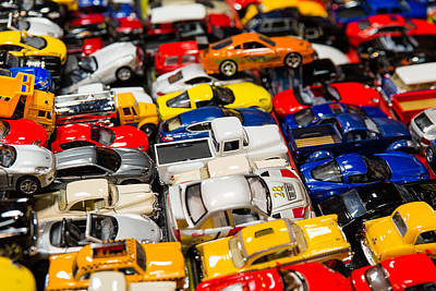 Photograph - Toy Cars by SR Green